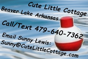 Cute Little Cottage Rental on Beaver Lake Rogers, Arkansas