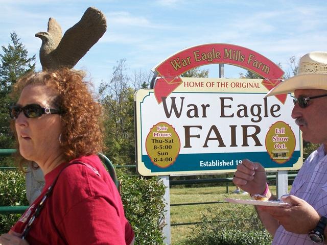 A bird on the head... War Eagle Craft Fair.