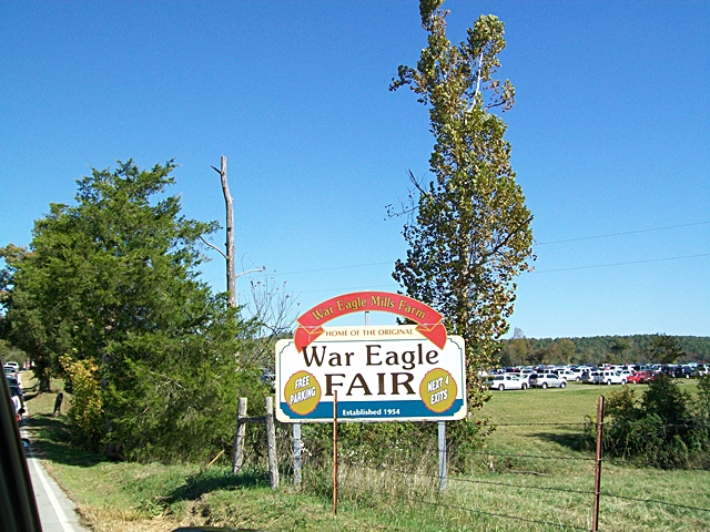 We Can see the War Eagle Craft Fair Parking!