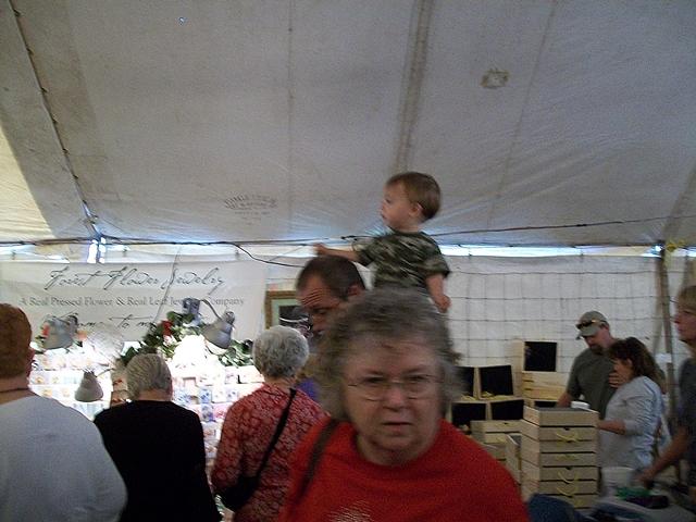 Sit where you can get the best veiw War Eagle Craft Fair.