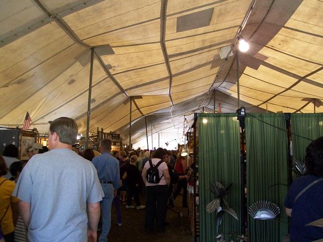 War Eagle Craft Fairs Attract lots of men folk too!!!