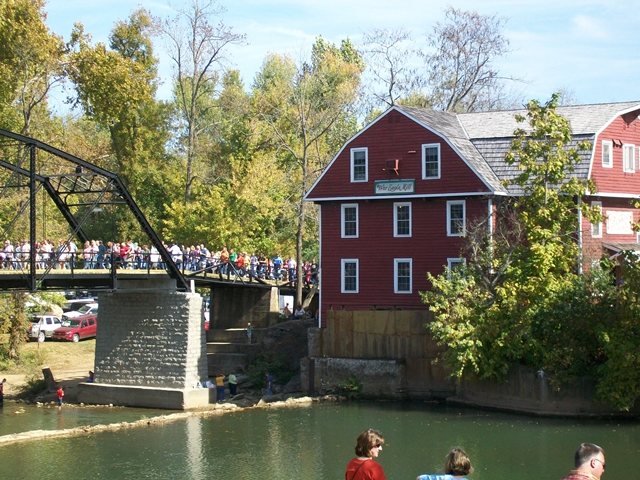 War Eagle & Bridge War Eagle Mill during Craft Fair Stay at Cute Little Cottage Rogers AR.